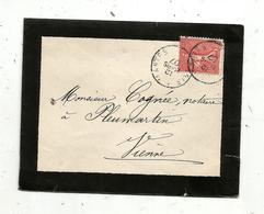 Lettre , 1907, DE PARIS A NANTES , PLEUMARTIN , Vienne , 4 Scans - 1877-1920: Période Semi Moderne