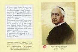 Santino Depliant BEATO LUIGI BIRAGHI Con RELIQUIA (Ex-Indumentis) Imprimatur 2006 - OTTIMO P100 - Religion & Esotericism