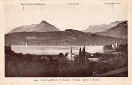 CPA Lac D'Annecy Duingt - Eglise Et Château Non Circulée - Duingt