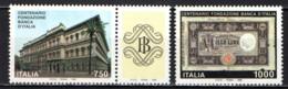 ITALIA - 1993 - CENTENARIO DELLA FONDAZIONE DELLA BANCA D'ITALIA - CON BANDELLA - WITH LABEL - MNH - 1946-.. Republiek