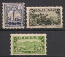 Syrie - 1925 - N°Yv. 154 - 155 - 156 - 3 Valeurs - Neuf Luxe ** / MNH / Postfrisch - Syria (1919-1945)