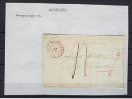VOORLOPER 1844 VAN Roulers Naar Bruxelles Stempeltype 15 EN APRES LE DEPART - 1830-1849 (Belgica Independiente)
