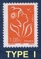 1.00 € MARIANNE DE LAMOUCHE ITVF AU PEU COURANT TYPE I - CERES 3721 I Cote 9 € - 2004-08 Marianne Of Lamouche