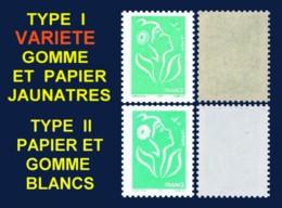 VARIETE TVP VERT LAMOUCHE ITVF AU PEU COURANT TYPE I ET à La GOMME JAUNATRE - CERES 3715 I +? - 2004-08 Marianne Of Lamouche