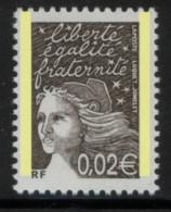 LUQUET 0.02 €  Avec 2 Bandes De PHOSPHORE - CERES N° 3422 B -  Cote 8 € - 1997-04 Marianne Of July 14th