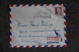Timbre Sur Lettre De TOULON Vers MADAGASCAR - 1961 - N° 1263 - Francia
