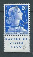 FRANCE 1955 . N° 1011B .Type II Avec Bande Pub. Neuf ** (MNH) . - 1955- Marianne De Muller