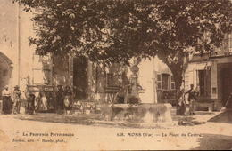 Var, Mons, La Place Du Centre      (bon Etat) - Other Municipalities