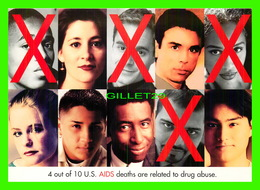ADVERTISING, PUBLICITÉ - NIDA, NATIONAL INSTITUTE ON DRUG ABUSE, 1974-2004 - AIDS DEATHS ARE RELATED TO DRUG ABUSE -E - Publicité