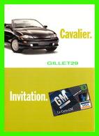 ADVERTISING, PUBLICITÉ - LA CARTE DE CRÉDIT GM - VOITURE CAVALIER - ZOOM CARDS - - Publicité