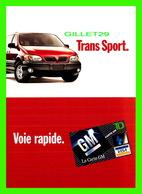 ADVERTISING, PUBLICITÉ - LA CARTE DE CRÉDIT GM - VOITURE TRANS SPORT - ZOOM CARDS - - Publicité