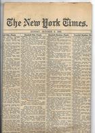 Journal The New York Times Section 13  De 1929 - Nouvelles/ Affaires Courantes
