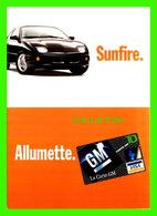 ADVERTISING, PUBLICITÉ - LA CARTE DE CRÉDIT GM - VOITURE SUNFIRE - ZOOM CARDS - - Publicité