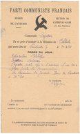 HISTOIRE POLITIQUE SYNDICALISME PARTI COMMUNISTE FRANCAIS FFI AVEYRON SECTION DE CAPDENAC GARE CONVOCATION REUNION - Documents Historiques