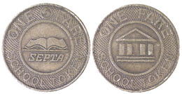 04013  GETTONE TOKEN JETON FICHA TRASPORTI TRANSIT TRASPORTATION PENNSYLVANIA PHILADELPHIA 1975 - Unclassified