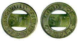 04088  GETTONE TOKEN JETON FICHA TRASPORTI TRANSIT TRASPORTATION PENNSYLVANIA SHARON 1943 - Unclassified