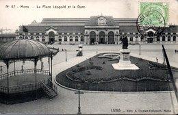 Mons - 57 La Place Léopold Et La Gare - Mons