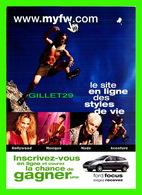 ADVERTISING, PUBLICITÉ - SITE WEB MYFW.COM - LE SITE EN LIGNE DES STYLES DE VIE - - Publicité