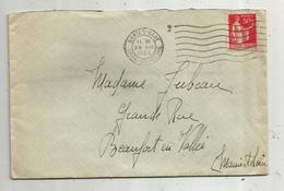 Lettre , 1935 , NANTES-GARE , LOIRE INFERIEURE ,  2 Scans - Marcophilie (Lettres)