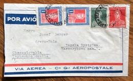 ARGENTINA ENVELOPE PAR AVION  VIA C.e G.le AEROPOSTALE  FROM BUENOS AIRES  TO CECOSLOVACCHIA THE 23/2/33 - Buenos Aires (1858-1864)