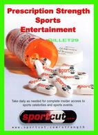 ADVERTISING, PUBLICITÉ - SPORTSCUT.COM - PRESCRIPTION STRENGTH SPORTS ENTERTAINMENT - MAX RACKS - - Publicité
