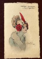 1 CP  Illustrateur Naillod. Chapeau  Chantecler - POULE BLANCHE - Naillod