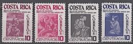 COSTA RICA, Peinture, Painting, Murillo, Rafael.Yvert Nº 317/320 **MNH - Arts