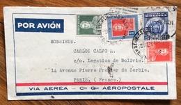 ARGENTINA ENVELOPE PAR AVION  VIA C.e G.le AEROPOSTALE  FROM BUENOS AIRES  TO PARIS FRANCE THE 2/3/34 - Buenos Aires (1858-1864)