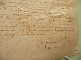 Religion 1527 Pièce Signée Sur Velin Jean De Foix Archevêque De Bordeaux Poursuites Contre 2 Clercs Rebelles - Manuscripten