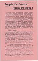 HISTOIRE POLITIQUE SYNDICALISME PARTI COMMUNISTE FRANCAIS FFI AVEYRON TARN PROPAGANDE PEUPLE DE FRANCE JUSQU'AU BOUT - Documents Historiques