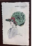 1 CP  Illustrateur Naillod. Chapeau  Chantecler - DINDON - Naillod