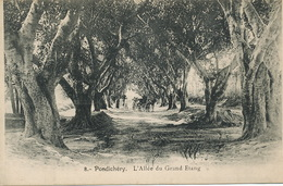 8 Pondichery L' Allée Du Grand Etang  Undivided Back - India