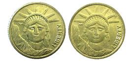 04037 GETTONE TOKEN JETON FICHA AMUSEMENT GAMING SLOT MACHINE LIBERTY GOLDED - Unclassified