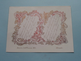 Honoré De VRIES & Fanny MICHIELS Anvers Le 18 Février 1851 ( Porcelein / Porcelaine ) Form. +/- 16 X 12 Cm.! - Mariage