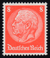 517I Hindenburg 8 Pf. Mit PLF Offenes D In Deutsches, ** Geprüft Schlegel BPP - Abarten