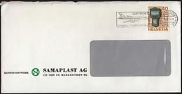 Switzerland St.Margrethen 1979 / Luftpost, Schnell Zuverlässig, Airplane / Machine Stamp / Europa CEPT - Post, Mailbox - Post