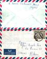 91347) SIRIA- LETTERA CON 60P. BASSORILIEVO DA HOMS A MILANO IL 6-11-1967 - Siria