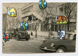 RARE OAS 29 4 1962 Scan Dos BLIDA HOTEL Finances Attentat Explosion ALGERIE Citroen Ds Camion Snapshot Amateur Plastic - Luoghi