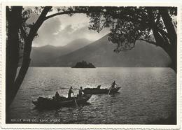 W1442 Sulle Rive Del Lago D'Iseo (Bergamo Brescia) - Barche Di Pescatori - Panorama / Viaggiata 1957 - Italia