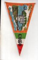 REF ENV : Fanion Flag Pennant Stendardo Touristique Ancien : COMO Il Tempio Voltiano - Obj. 'Souvenir De'