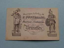 F. PUTTEMANS Marchand D'Antiquités - Montagne De La Cour 52 BRUXELLES ( Form. +/- 10 X 6,5 Cm. ) ! - Cartes De Visite