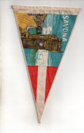 REF ENV : Fanion Flag Pennant Stendardo Touristique Ancien : SAVONA Italia - Obj. 'Souvenir De'