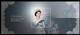 Gibraltar 2017 Micheln° Bloc 126 *** MNH Accession 65th Anniversary Queen Elizabeth II - Royalties, Royals