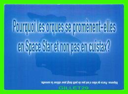 ADVERTISING - PUBLICITÉ - VOITURE MITSUBISHI MOTORS, SPACE STAR - POURQUOI LES ORQUES SE PROMÈNENT-ELLES EN SPACE STAR - - Publicité