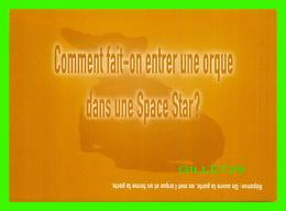 ADVERTISING - PUBLICITÉ - VOITURE MITSUBISHI MOTORS, SPACE STAR - COMMENT FAIT-ON ENTRER UNE ORQUE DANS UNE SPACE STAR ? - Publicité