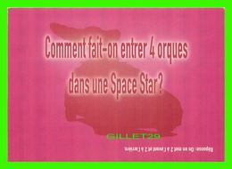 ADVERTISING - PUBLICITÉ - VOITURE MITSUBISHI MOTORS, SPACE STAR - COMMENT FAIT-ON ENTRER 4 ORQUES DANS UNE SPACE STAR ? - Publicité