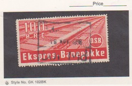 DANMARK DENMARK - EKSPRES BANEPAKKE - RAILWAY RAILROAD TRAIN Tax Stamp - Fiscali