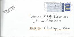 """FLAMME DE GRANVILLE - MANCHE """" Granville Chausey - Prenez L'Air Du Large """" - Postmark Collection (Covers)"""