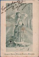 Personnage- Rozalie  Carmen - Tour Du Monde  A Pieds -  Dédicacée -   CPA    1908 - People