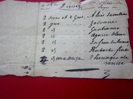 AV 1834 Ordonnance Recette Document Médical Manuscrit-Médecine-Pharmacie-Maladie-Remède Miracle-Médicament-Soin-Guérison - Manuscritos